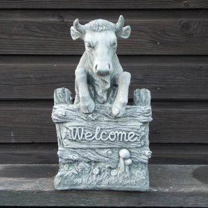 Welkom Koe. Heet u gasten welkom met deze koe.